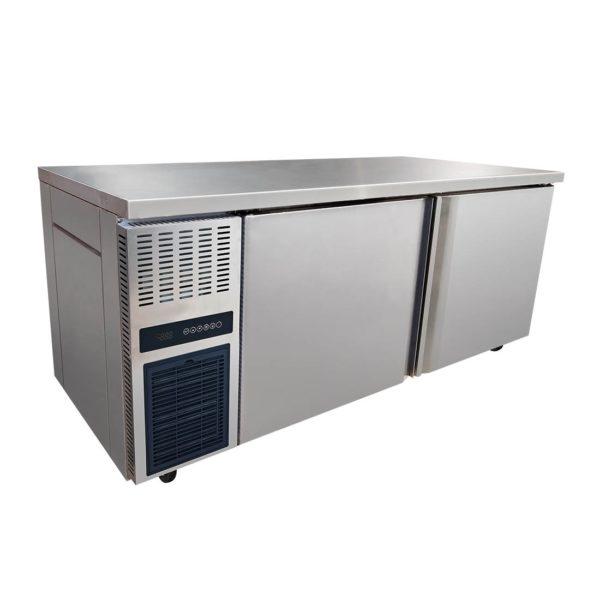 Stainless Steel Large Double Door Workbench Freezer