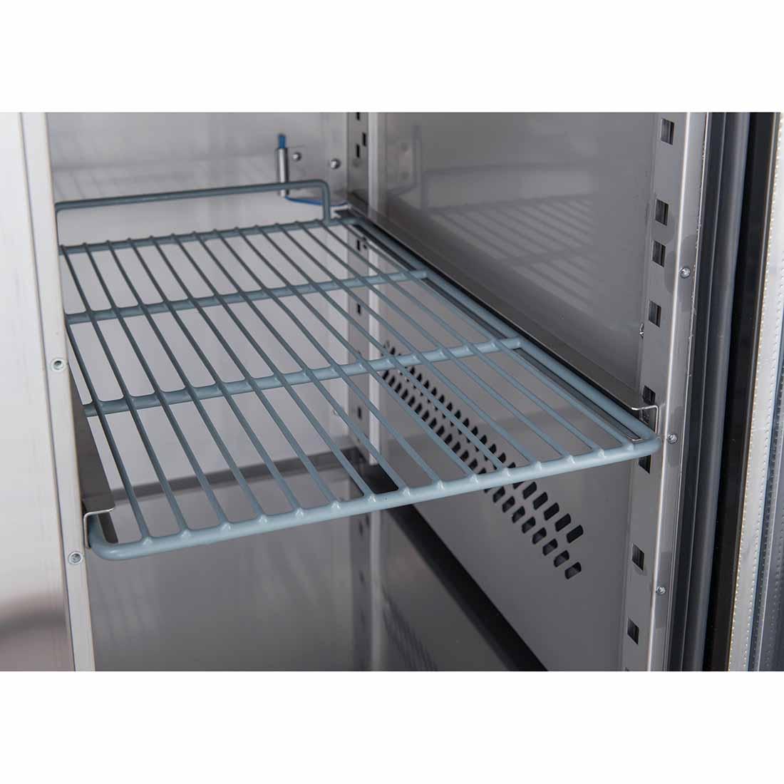 FED-X Three Glass Door Bench Fridge - XUB7C18G3V